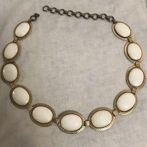 Gold toned Metal Plastic Resin Marble Belt